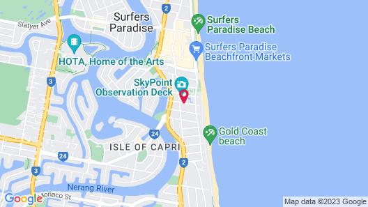 Q1 Resort & Spa Map