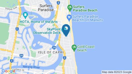 Copacabana Holiday Apartments Map