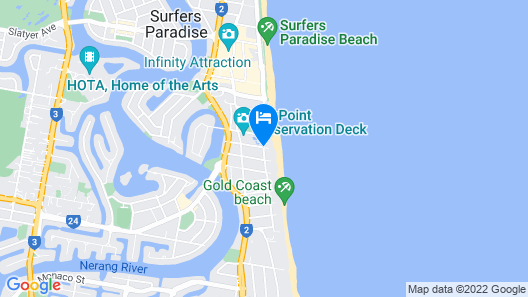 President Holiday Apartments Map
