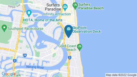 Wyndham Surfers Paradise Map