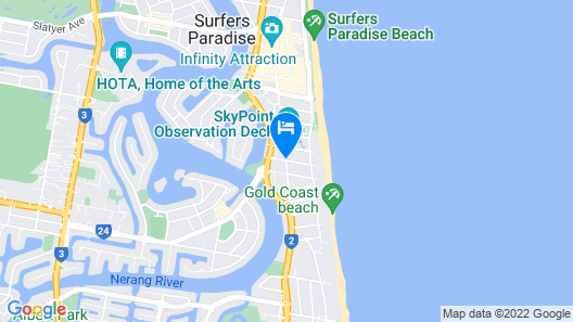 Wyndham Surfers Paradise Map