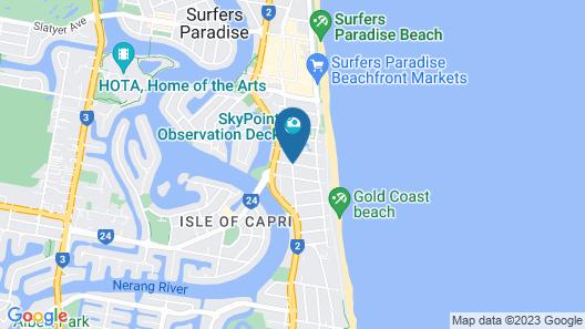Genesis Holiday Apartments Map