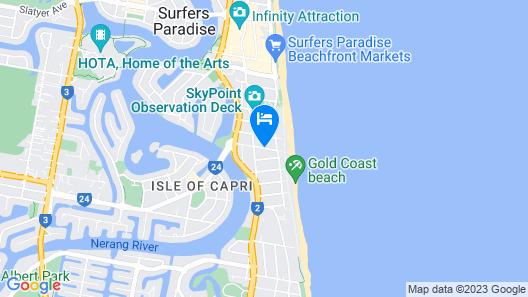 Surfers Century Oceanside Apartments Map