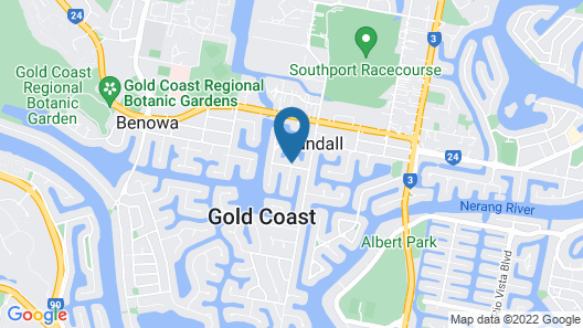 The Bali Hut on the Waters of the Central Gold Coast Apartment 5 Map