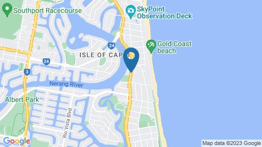 Surfers Hawaiian Holiday Apartments Map