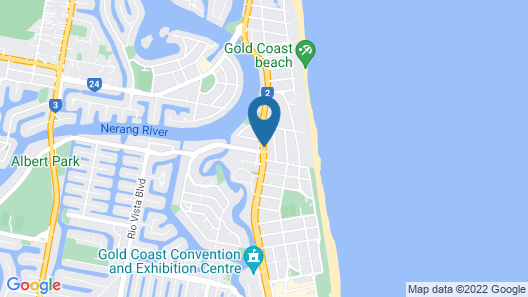 Crowne Plaza Surfers Paradise Map