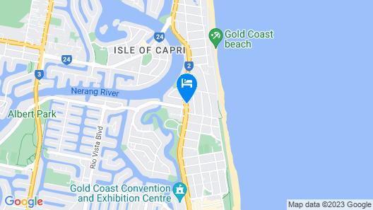 Crowne Plaza Surfers Paradise Map