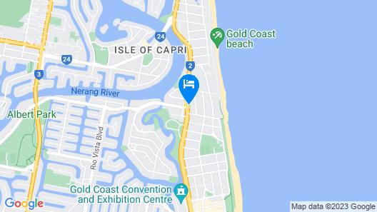 Crowne Plaza Surfers Paradise, an IHG Hotel Map