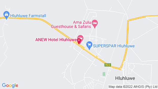 ANEW Hotel Hluhluwe Map