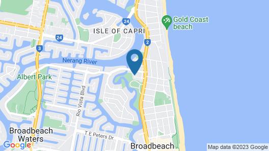 Cascade Gardens Holiday Apartments Map