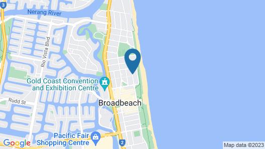 La Grande Apartments Broadbeach Map