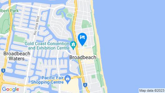 Broadbeach Private Apt with CHA Map