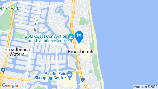Broadbeach Holiday Apartments Map