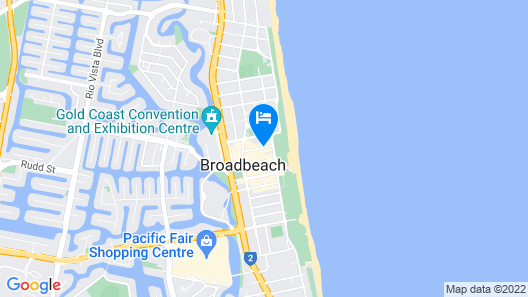 ULTIQA Beach Haven At Broadbeach Map