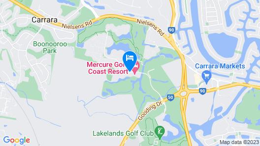 Mercure Gold Coast Resort Map