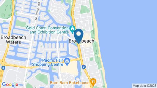 Mantra Broadbeach on the Park Map