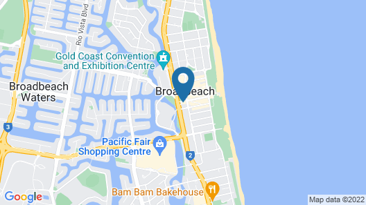 Broadbeach on the Park - Q Stay Map