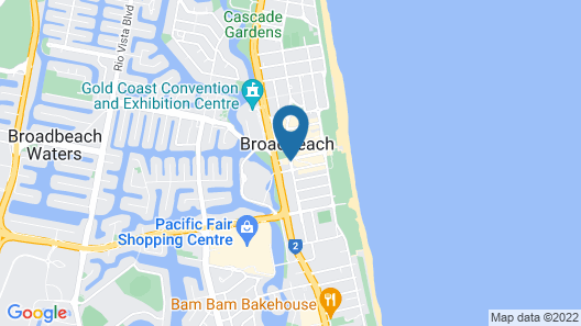 Sofitel Gold Coast Broadbeach Map