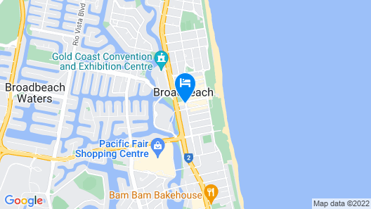 Sofitel Gold Coast Broadbeach Map