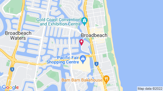 The Star Grand at The Star Gold Coast Map