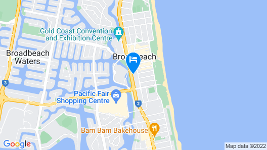Meriton Suites Broadbeach, Gold Coast Map