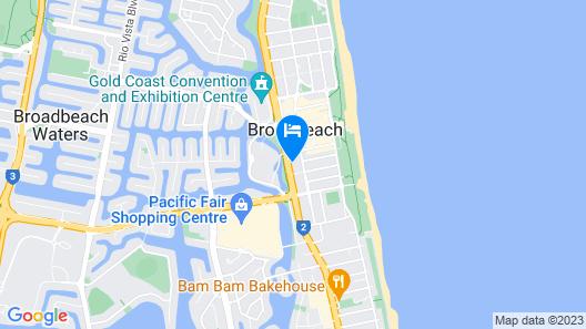 Meriton Suites Broadbeach, Gold Coast Map