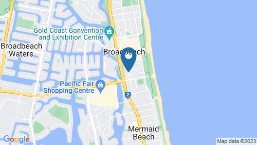 Broadbeach Savannah Hotel & Resort Map