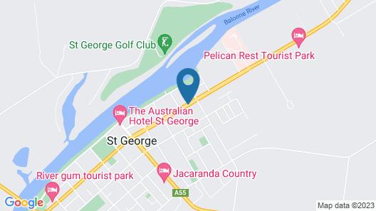 Balonne River Motor Inn Map