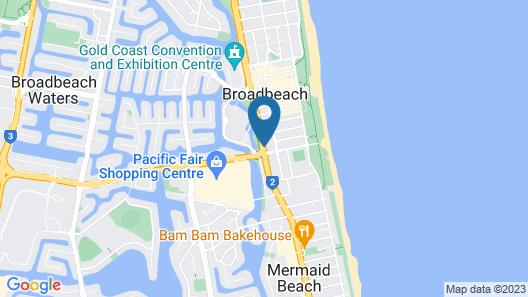 Broadbeach Travel Inn Apartments Map