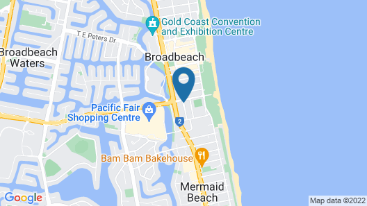 Ocean Pacific Broadbeach Map