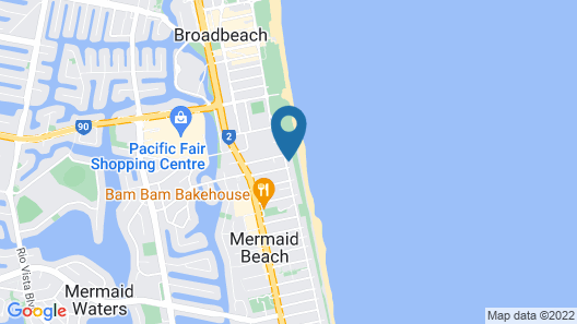 True Beachfront Beach House Map