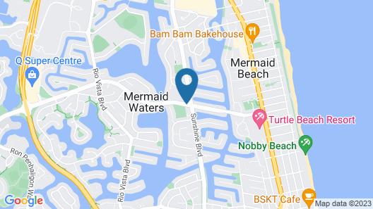 Mermaid Waters Hotel by Nightcap Plus Map