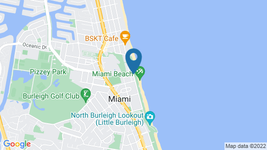 Sandrift Beachfront Apartments Map
