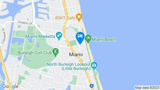 Miami Beachside Holiday Apartments Map