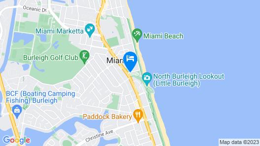 Ocean Beach Tourist Park Map