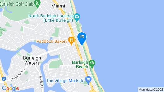 Burleigh Mediterranean Resort Map
