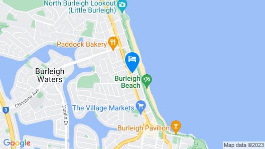 Burleigh on the Beach Holiday Apartments Map