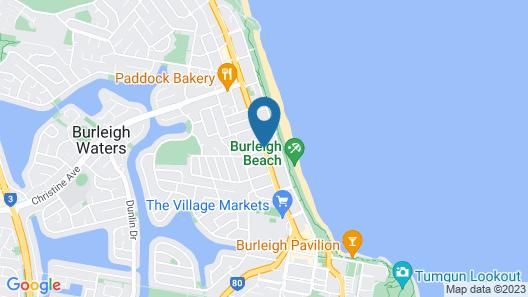 Burleigh Esplanade Apartments Map