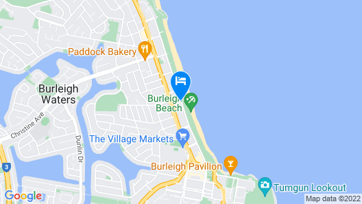 Le Beach Apartments Map