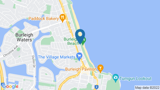 Southern Cross Beachfront Holiday Apartments Map
