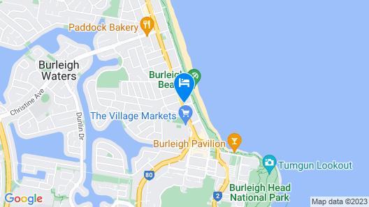 2nd Avenue Beachside Apartments Map