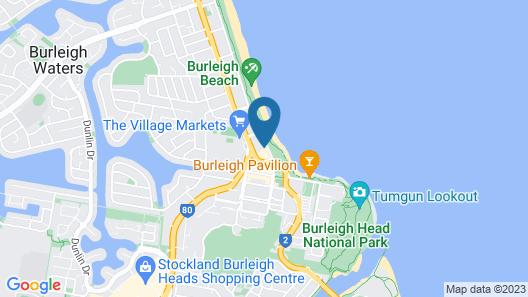 Oceania Beachside Holiday Apartments Map
