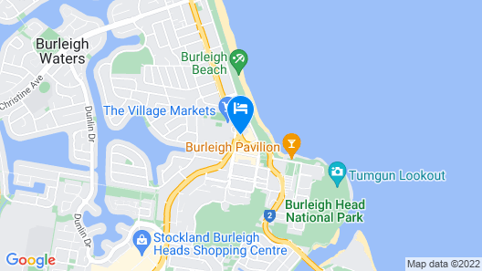 Burleigh Palms Holiday Apartments Map