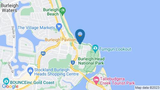Burleigh Beach Tourist Park Map