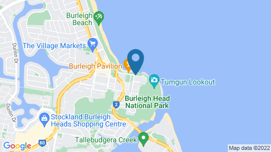 Bujerum Apartments on Burleigh Map