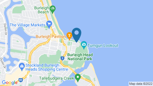 Park Towers Holiday Units Map
