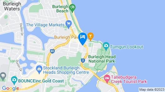 Swell Resort Burleigh Beach Map