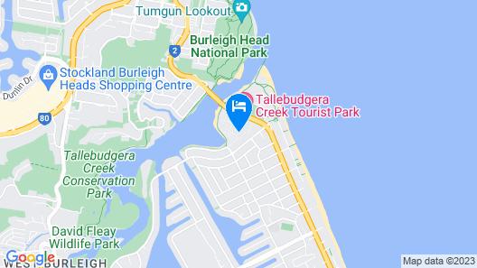 Tallebudgera Creek Tourist Park Map