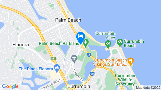 Red Star Hotels Palm Beach Map