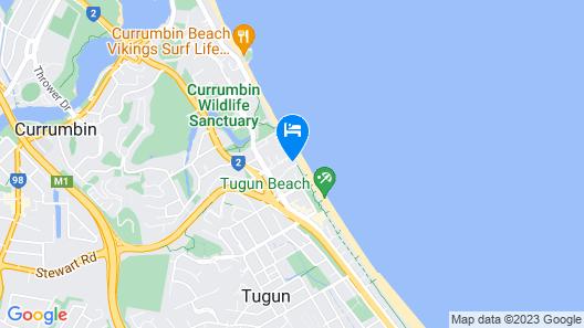 Sandbox Luxury Beach Front Apartments Map